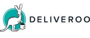 Deliveroo logo (colour, text adjacent, 300x300px)